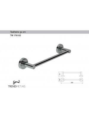Toalheiro Latão Banheiro Redondo 30cm Trendmetais Tm 176102
