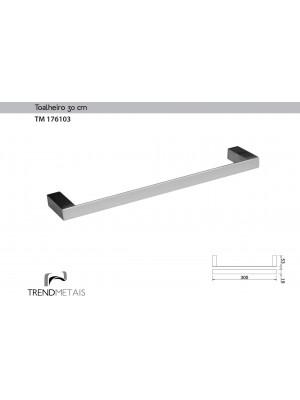 Toalheiro 30cm Latão Banheiro Slim Trendmetais Tm 176103