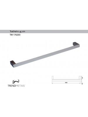 Toalheiro Latão Banheiro 45cm Slim Trendmetais Tm 176203