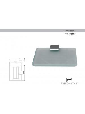 Saboneteira Latão Banheiro Slim Trendmetais Tm 176803