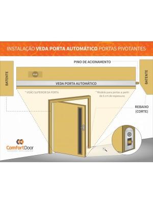 Veda Porta Pino Automático Interno 82cm Comfort Door