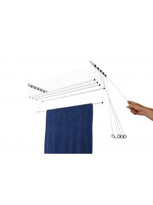 Varal Teto ou Parede 5 Varetas Aço Pintado Branco 100cm